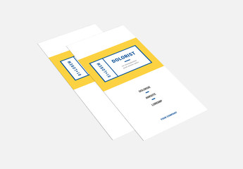 Trifold Brochure Layout with Yellow Accents