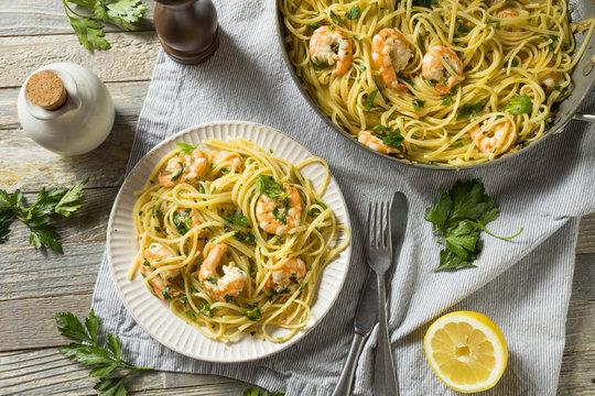 Homemade Lemon Shrimp Scampi