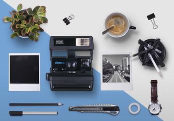 Scene Creator with Instant Camera and Desk Accessories