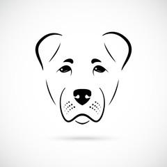Muzzle Alabai dog on white background. Dog icon for your design.