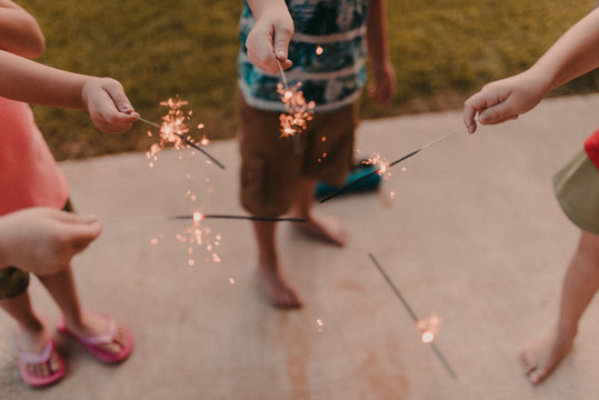 Kids and Sparklers