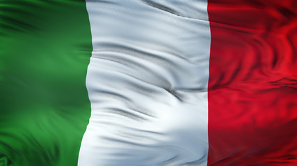 ITALY Realistic Waving Flag Background
