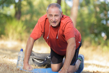 man doing some exercise