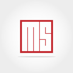 Initial Letter MS Logo Design