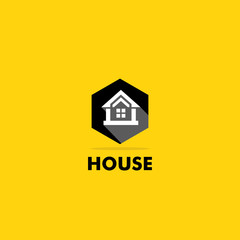 house building icon logo