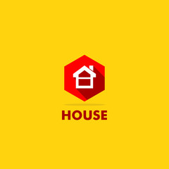 house building sign icon logo