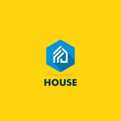 house icon vector logo