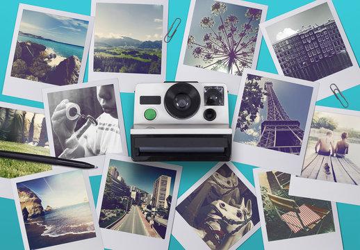 Polaroid-Style Scene Creator