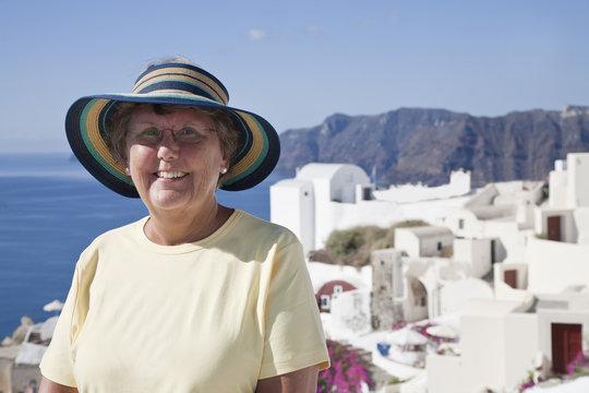 Older Tourist in Greece