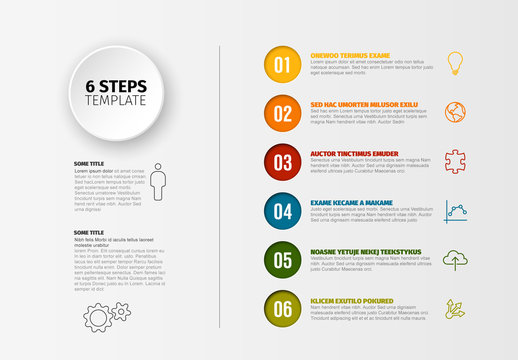Six Step Infographic Layout