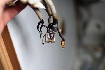 Verbrannte Kabel