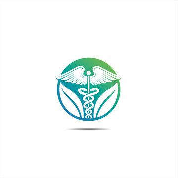 Caduceus icon, Healthcare Caduceus logo icon,