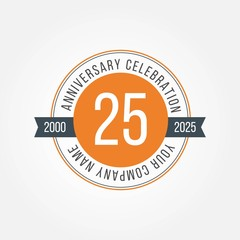 25 Anniversary Celebration Vector Template Design Illustration