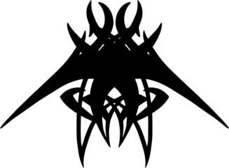 Bat Tribal Tattoo