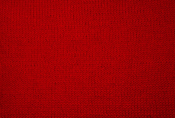 red knitted fabric background texture