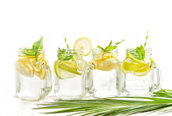 Cold summer drink cocktail lemonade ice tea