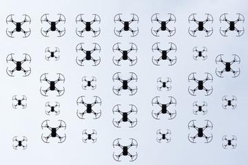 Formación área de mini drones