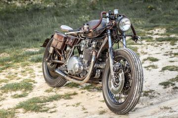 Custom special rat motorbike. Post apocalyptic concept