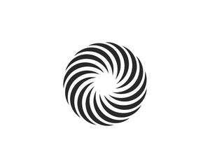 Business logo, vortex, wave and spiral icon