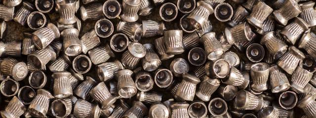 Numerous airgun lead pellets background