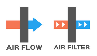 air filter icon and logo vector