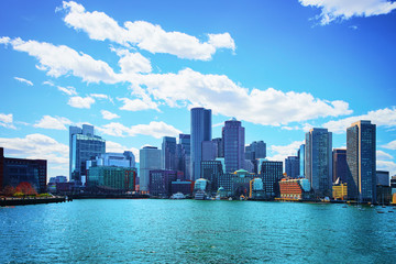 Skyline of center of Boston USA