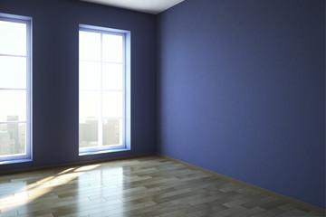 Modern blue office interior