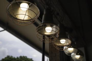 Decoration antique light vintage style room
