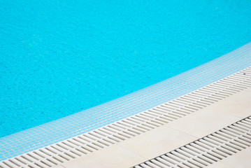 Swimming Pool Isolated. Blue Aqua Texture and Background. summer Hollidays, Relax.