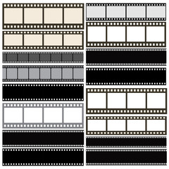 Various film strip backgrounds