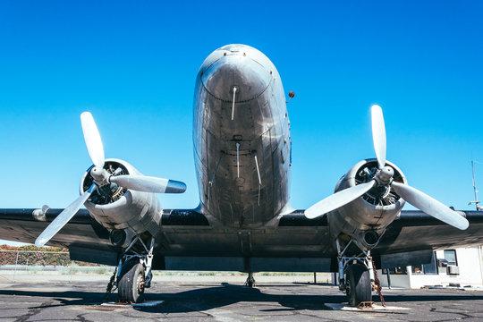 Old American transport plane Douglas DC-3