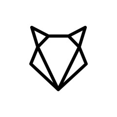 Vector of Logo Fox. Line Graphic Animal.