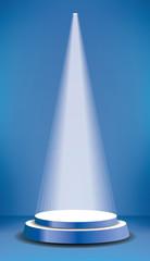 podium blue spot