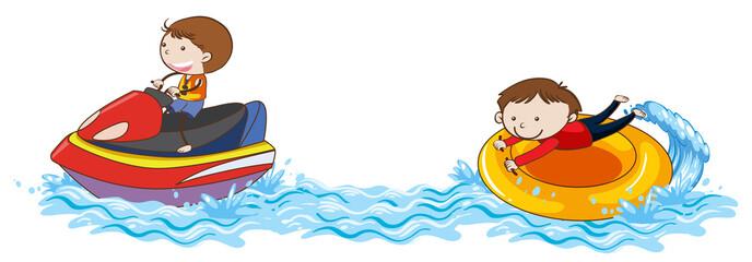 Doodle Kids Jet Ski at the Ocean