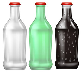 A Set of Colourful Bottle
