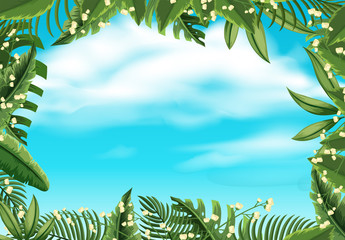 Scene with nature and sky illustration