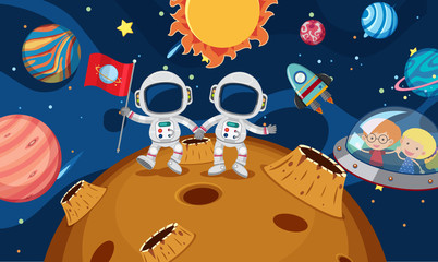 Two Astronaut Explore the Planet