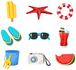 A Set of Summer Beach Element