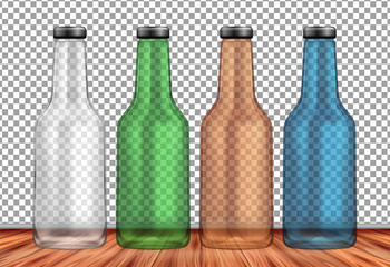 Empty Bottle on Transparent Background