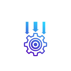 Integration system icon on white