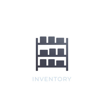 inventory vector icon isolated on white