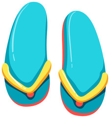 Colourful Sandal on White Background