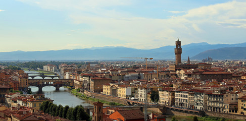Florence Italy panoramic view