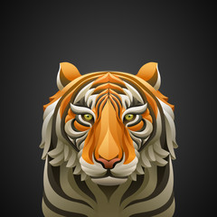 Vector illustrated tiger