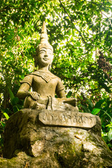 Statues at secret garden on the Koh Samui Island in Thailand