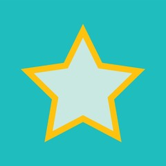 Flat style vector retro star icon