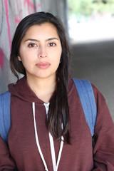 Gorgeous ethnic woman head shot