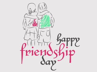 nice and beautiful abstract or poster for Friendship Day or Friends Forever or Best Friends with nice and creative design illustration.