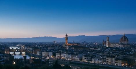 Firenze, Italia. Florence, Italy. Italian cityscape at dusk