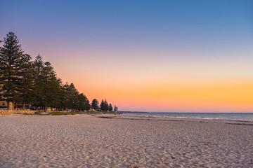 Glenelg Beach view at sunset